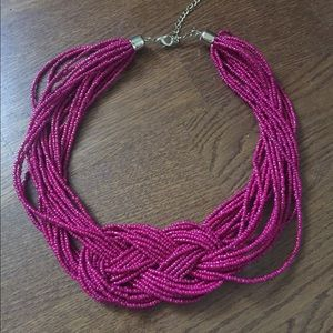 Park lane fuschia color beaded necklace